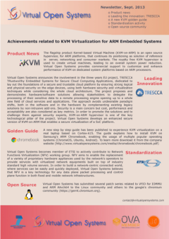 virtual open systems news, newsletters, press releases, events and trends on innovation in open source virtualization and kvm on arm